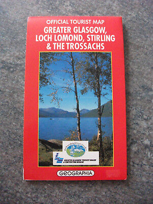 Geographia Tourist Map: Greater Glasgow, Loch Lomond, Stirling & The Trossachs