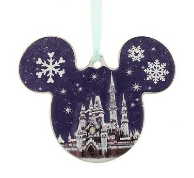 Castle Mickey Disc Icon Ornament Walt Disney World Parks NEW