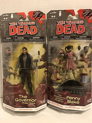 The Walking Dead Lot of characters 2 The Governer & Penny Blake Gov's Daughter