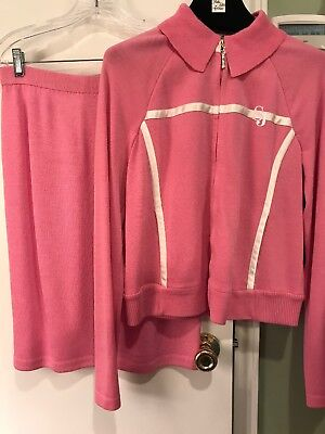 Pink St. John Collection by Marie Gray Santana Skirt 4 and Jacket Small