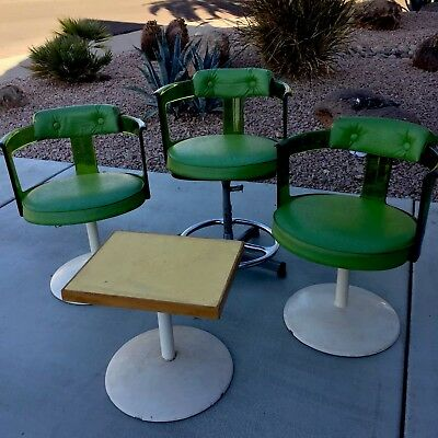 GREEN LUCITE MOD TULIP CHAIRS BY DAYSTROM, Circa 1970's VTG MID CENTURY MODERN