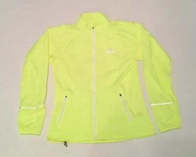 The North Face Womens Running Jacket Full Zip Windbreaker Cycling Large Yellow