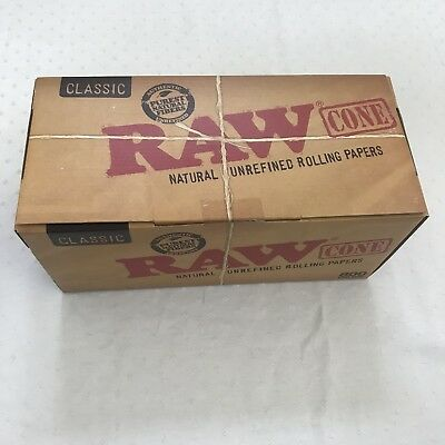 800 Pack - RAW Classic KING Cones Authentic Pre-Rolled Cones w/ Filter
