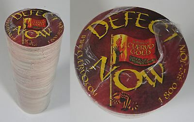"""Package of 250 CUERVO GOLD Tequila Bar Coasters """"Defect Now"""""""