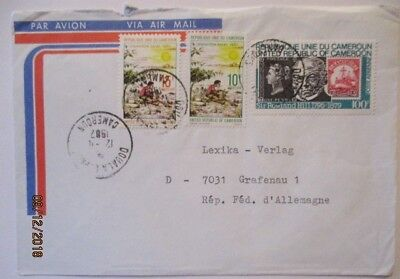 Cameroon, Airmail Letter 1982 Mit 3 Values Stamped (64264)