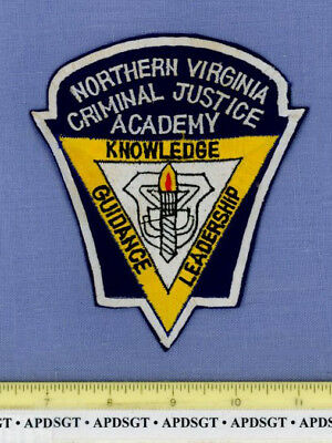 NORTHERN VIRGINIA CRIMINAL JUSTICE ACADEMY Sheriff School Campus Police Patch