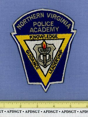 NORTHERN VIRGINIA POLICE ACADEMY (Old) Sheriff School Campus Police Patch 74-79