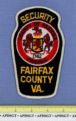 FAIRFAX COUNTY SECURITY (Small Letters) VIRGINIA Sheriff Police Patch LION