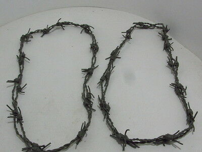 2 Leather barbed wire necklaces..... Gray colored...., 275  bracelet.....hat ban