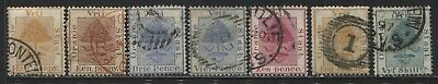 Orange Free State 1868-1900 7 various values to 5/ used