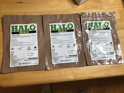 HALO CHEST SEALS (2 Per Package) Military EMS Medic Supply EXP  2020