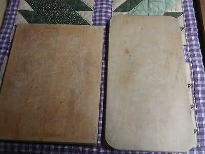 Primitive Vintage Farm Country Wood Cutting Bread Boards Cut Marks (Lot Of 2)