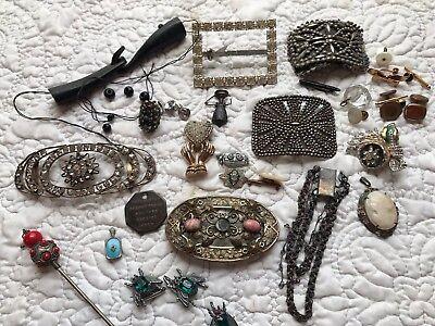 Lot Of Antique Victorian Art Deco Nouveau Pieces And Parts