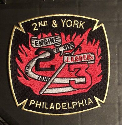 Philidelphia Pennsylvania Pa Fire Rescue Ems Company Patch Fdny Rare 2nd York