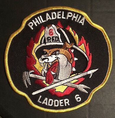 Philidelphia Pennsylvania Pa Fire Ems Rescue Company Patch Ladder 6 Fdny Rare