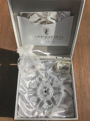 Waterford Crystal Snowflake Wishes 2015 Lavender Serenity Ornament