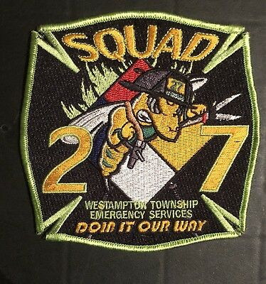 Westampton Township New Jersey Nj Fdny Squad 27 Fire Rescue Ems Company Patch