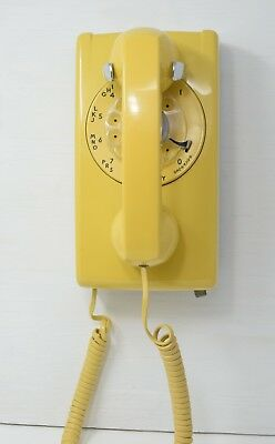 AT&T / Western Electric 554-56 Yellow Wall Telephone Working