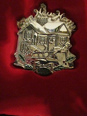 "2004 Gorham Silverplated Ornament ""Our New Home"""