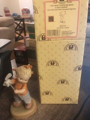 Enesco Memories Of Yesterday 525715 You Won't Catch Me Being A Golf Widow Figure