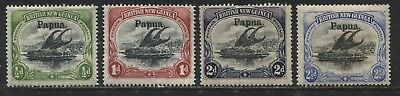 British New Guinea overprinted Papua 1906 1/2d to 2 1/2d mint o.g.
