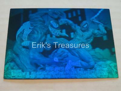 1993 Marvel Universe Series 4 Spider-Man vs Venom H-IV Hologram Card MIX TINT EX