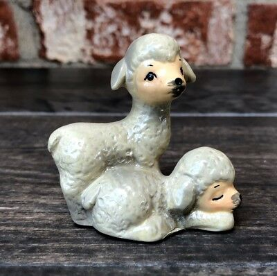 Vintage Pair of Cute Lamb/Sheep by  ENESCO Designed Giftware Sri Lanka