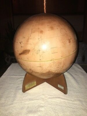"Denoyer-Geppert 16"" Visual Relief Mariner 9 Mars Globe, 1st Edition- 1973 (NASA)"