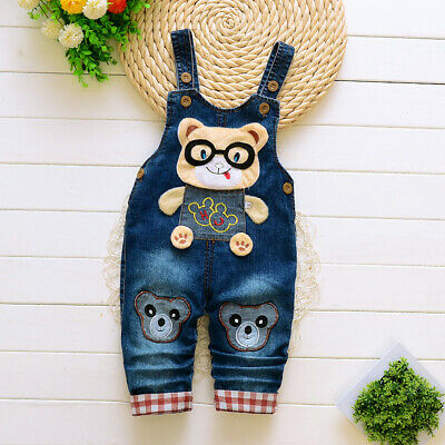 Kids Boys Denim Clothes Clothing Pants Baby Boy Bottoms Trousers Jeans Overalls