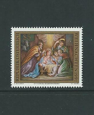 1991 AUSTRIA Christmas (Scott 1552) MNH