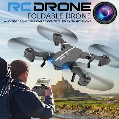 New Foldable Mini RC Drone with Camera HD 200W Wifi FPV Quadcopter Toys Headless