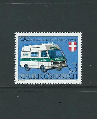 1981 AUSTRIA Centenary Vienna Emergency Medical Service (Scott 1201) MNH
