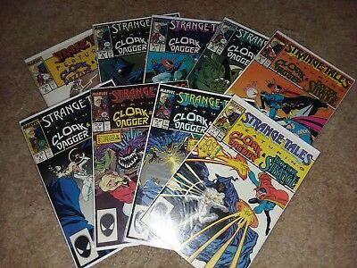 9 Issue Lot Of Strange Tales From 1987 Doctor Strange Cloak And Dagger