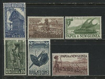 Papua & New Guinea values from 7 1/2d to 2/6d mint o.g.
