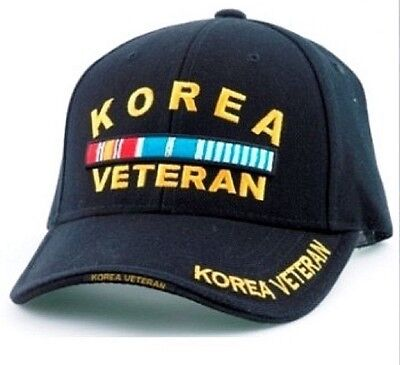 e036b0d974f Korea Veteran RIBBONS Ball Cap US Army Marine Corps Navy USAF Korean War  Vet Hat