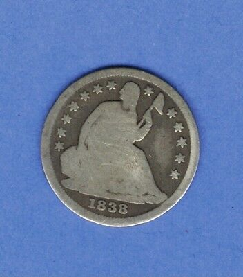 1838 Half-Dime Seated Liberty Us Silver Coin ......649