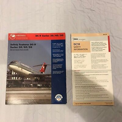 Northwest Airlines DC-9 & DC-10 Safety Cards