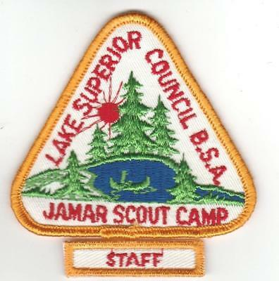 Camp Jamar Lake Superior white twill Staff 1960s
