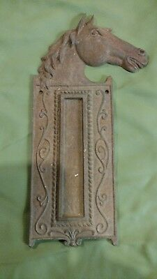 old vintage cast iron horse head thermometer