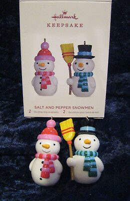 "Hallmark Keepsake Ornament ""Salt and Pepper Snowman"" 2018 MIB"