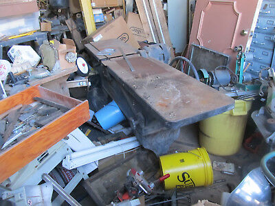 Vintage The Famous Line Wood Working Jointer