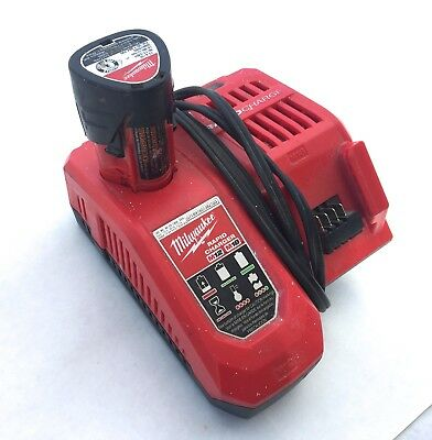 Milwaukee 12v Battery and 12 Volt 18 Volt Charger M12 M18 Fuel