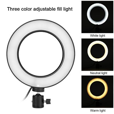 Selfie Portable LED Ring Fill Light Camera Accessory For Mobile Phone Android SP