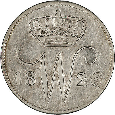 Netherlands 1826 25 Cents VF+