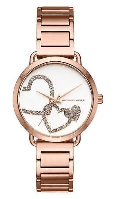 20c116042a96 NWT Michael Kors Women s Portia Rose Gold-Tone Stainless Steel Watch 37mm  MK3825