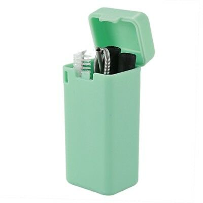 Collapsible Straw Reusable Stainless Steel, Folding Drinking Straws Foldable  T3