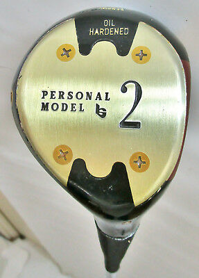 Louisville Golf Personal Model Oil Hardened Persimmon 2 Wood Steel Shaft 43""