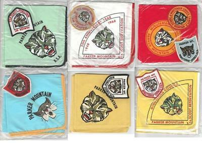 Camp Parker Mountain neckerchiefs patches set lot