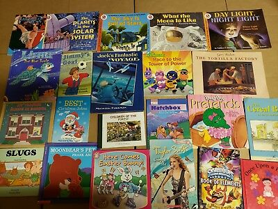 Lot of 20 K-5 Children Reading Bedtime-Story Time Kid BOOK Learn to Read MIX A65