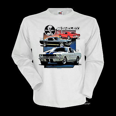 FORD Licensed Mustang 60s 70s Shelby Automotiv Muscle Car T-Shirt *0189 wh LS